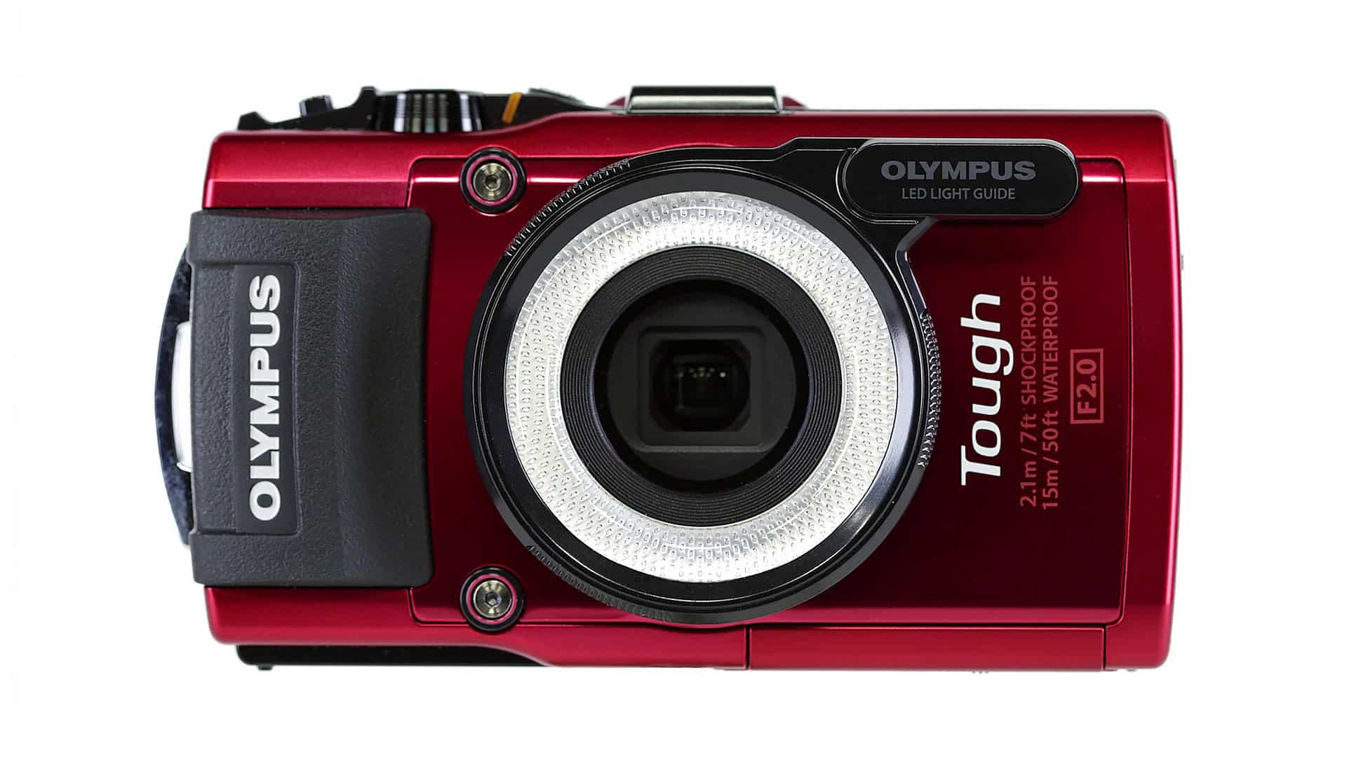 De Olympus Tough TG-3 in het Rood
