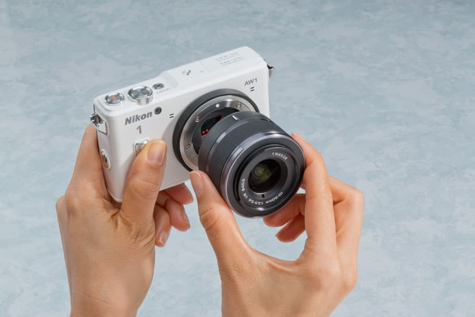 Nikon 1 AW1 kopen review lens