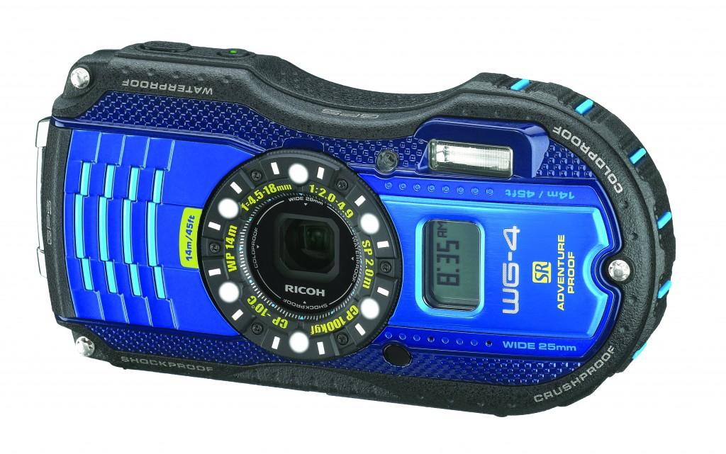 Ricoh WG-4 waterdichte camera met scherm vooraan