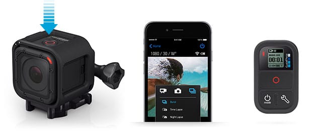 Gopro Hero 4 session app smartphone