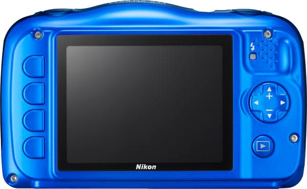 Nikon Coolpix S33 review achterkant camera