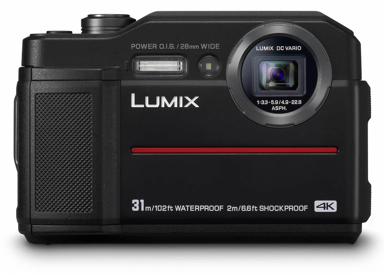 Panasonic Lumix DC-FT7 review onderwatercamera voorkant camera
