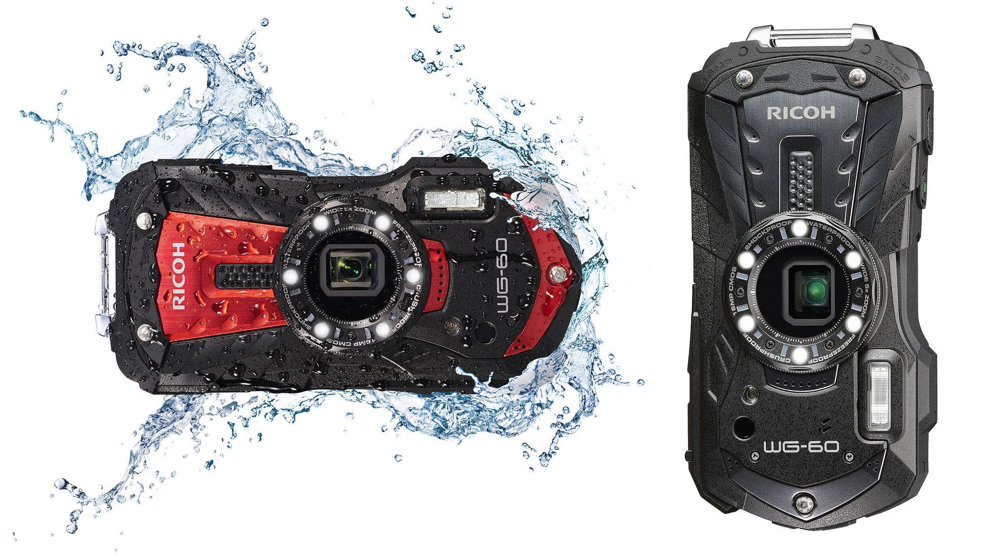 ricoh wg-60 zwart en rood